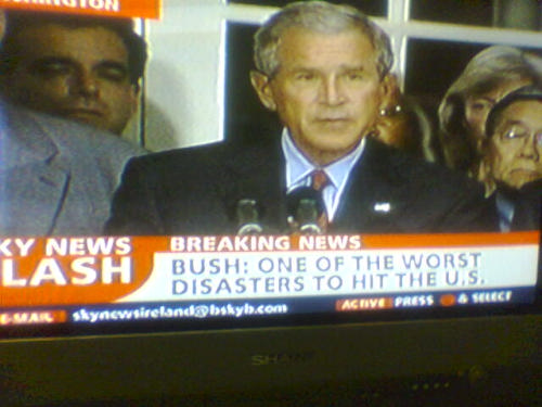 Breaking News - Bush: One of the Worst Disasters to Hit the U.S.